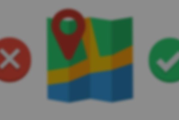 blurred map icon next to tick and cross