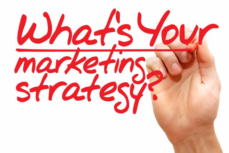 What's your marketing strategy written with marker and hand