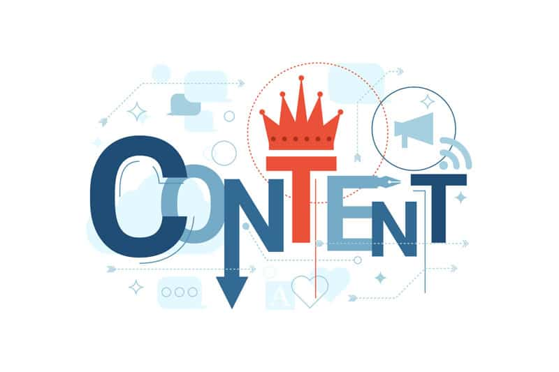 exciting dynamic content is king title graphic