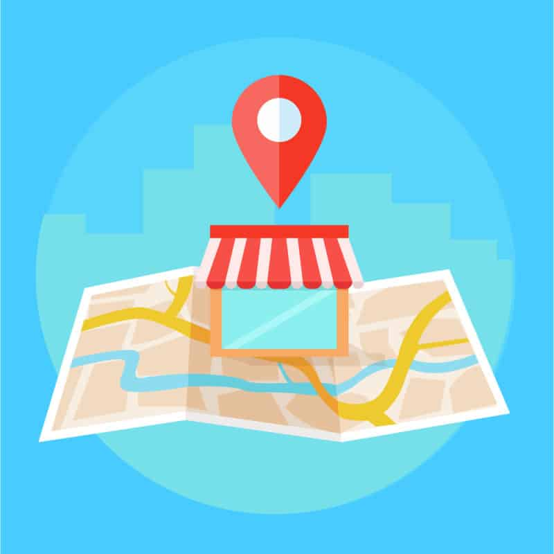 map marker icon on map blue background graphic