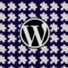 wordpress logo over repeating puzzle piece plugin icon